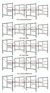 10 Set Of New 5 X 6 4 X 7 Masonry Drop Lock Scaffold Frame Set Cbm Scaffold