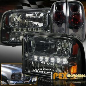 Smoke Upgrade 1999 2004 Ford F250 F350 To To 2007 Look Led Headlight Tail Light