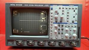Lecroy 9314am Digital Oscilloscope 400 Mhz 4 Channels 100 Ms s