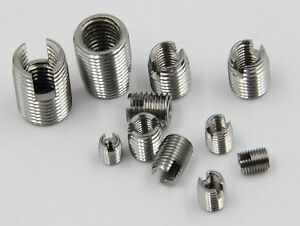 Select M2 M26 Stainless Steel Nut Solid Insert Thread Repairing Metal Threads