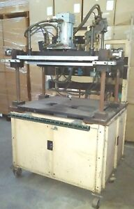 Custom Pneumatic Press 2 5 Ton X 30 X 16 Fixturing Table 4 Post Rotating Top