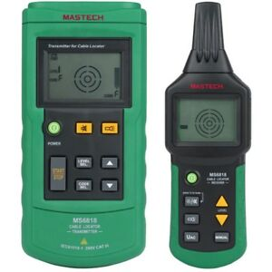 Mastech Advanced Cable Tracker Pipe Locator Detector Network Telephone Green