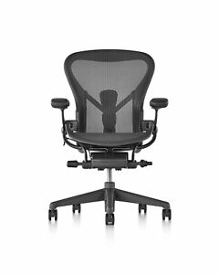 Herman Miller C Size Aeron Chair Graphite