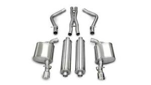 Corsa 14177 05 10 Dodge Charger R t 5 7l V8 Polished Sport Cat back Exhaust