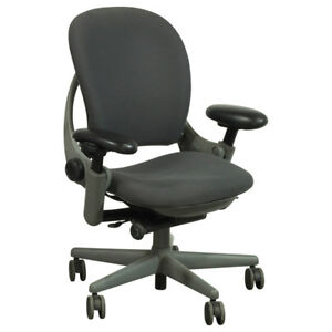 Steelcase Leap Chair V1 Grey Fabric Highly Adjustable Liveback Technology