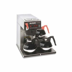 Bunn Cwtf15 12 cup Automatic Brewer With 3 Warmers 12950 0212 Ca Sales Tax Only