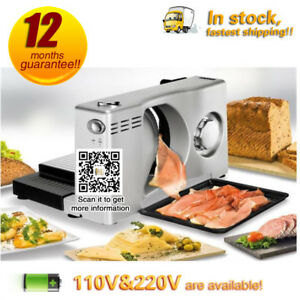 Electric With Blade Meat Slicing Machine bread fruit Cutter frozen Meat Slicer
