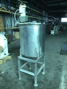 110 Gallon Stainless Steel Tank With Mixer