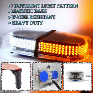 Zone Tech 240 Led Emergency Warning Roof Top Strobe Snow Plow Light Amber White