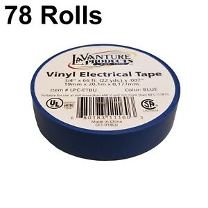 78 Rolls Of Blue Electrical Tape 3 4 X 66ft Trailer Rv Wires Lavanture