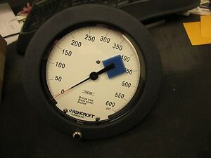 Ashcroft Duragauge 1377 6 Pressure Gauge 0 600 Psi 60 1377 as 02b xt1