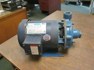 Goulds Pump W Motor 1bf20734 Size 1x1 1 4 5 3 4hp 3450rpm Used
