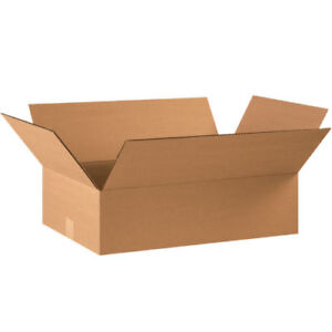 20 22 X 14 X 6 Cardboard Shipping Boxes Flat Corrugated Cartons