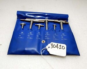 Imported Telescoping Gage Set 5 16 6 Inch inv 30420