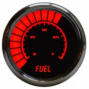 Analog Bargraph Fuel Gauge Intellitronix Red Leds Chrome Bezel 52mm 2 1 16 In