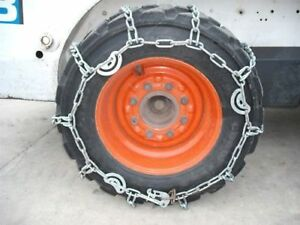Case Hardened 10x16 5 10 16 5 Skid Steer Loader Tire Snow Traction Chains pair