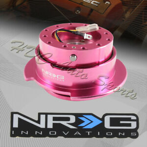 Nrg Pink Ball Locking 6 Hole Steering Wheel Gen 2 5 Quick Release Adapter Kit