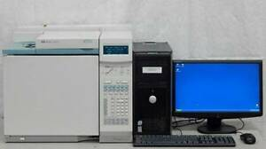 Hewlett Packard 6890 Plus Gas Chromatograph System With Computer Agilent Gc