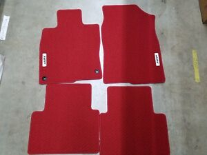 New Genuine Honda Red Hfp Carpet Mats 2017 2018 Civic 4 5 Door 08p15 tgg 110a