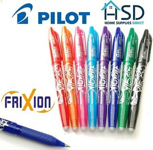 Pilot Frixion Pen Erasable Medium 0 7mm Rollerball Heat Erase Rub Out Friction