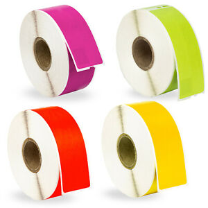 12 Rolls 3 Rolls Of Red Purple Yellow Green Address Labels For Dymo 30252