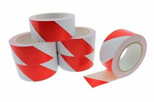 6pk 2 Red White Insulated Adhesive Pvc Striping Vinyl Electrical Tape 36 Yard