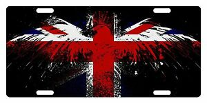 United Kingdom Uk Flag Custom License Plate Union Jack Emblem Eagle Version