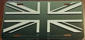 United Kingdom Uk Flag Custom License Plate Union Jack Emblem Gray Version