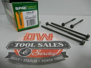 Spax Screws Made In Usa 1 4 X 6 Hex Washer Head Powerlags Exterior