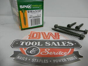 Spax Screws Made In Usa 5 16 X 3 1 2 Hex Washer Head Powerlags Exterior