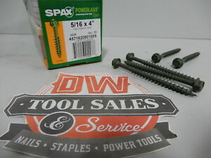 Spax Screws Made In Usa 5 16 X 4 Hex Washer Head Powerlags Exterior