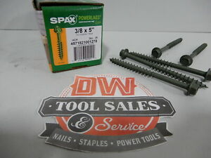 Spax Screws Made In Usa 3 8 X 5 Hex Washer Head Powerlags Exterior