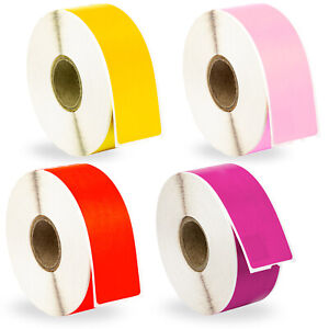 24 Rolls 6 Rolls Of Purple Red Pink Yellow Address Labels For Dymo 30252