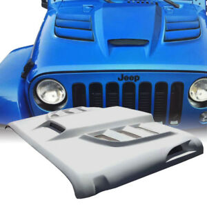Xprite Custom Fiberglass Hood With Scoop Vents Batman For 07 17 Jeep Wrangler Jk