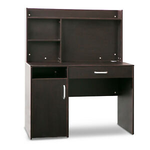 Merax Home Office Computer Desk With Hutch And Bookshelves