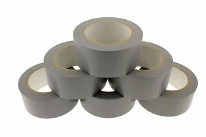 6x 2 Gray Removable Adhesive Pvc Striping Vinyl Electrical Marking Floor Tape