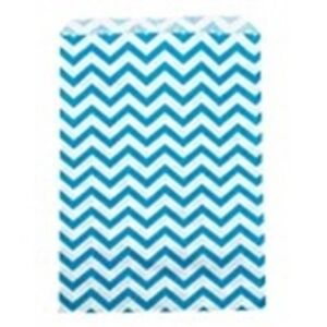 500 Blue Chevron Merchandise Retail Paper Party Favor Gift Bags 6 X 9 Tall