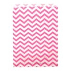 500 Pink Chevron Merchandise Retail Paper Party Favor Gift Bags 6 X 9 Tall