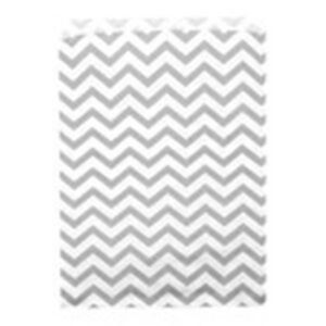 500 Silver Chevron Merchandise Retail Party Favor Paper Gift Bags 6 X 9 Tall