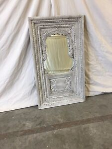 Italian Antique Painted Window With Mirror Italian Wall Mirror
