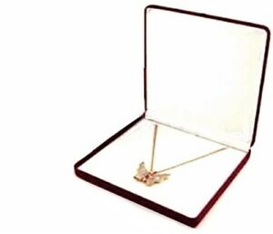 Wholesale Lot 24 Burgundy Velvet Necklace Jewelry Display Packaging Gift Boxes L