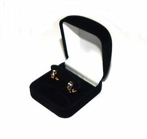 12 Hoop Or Post Earring Black Velvet Gift Boxes Jewelry Display