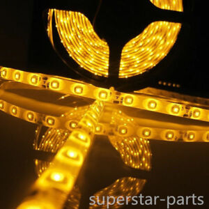 Boat Truck Car Suv Rv Amber 12v Waterproof Led Strip Light 5m 300 Leds