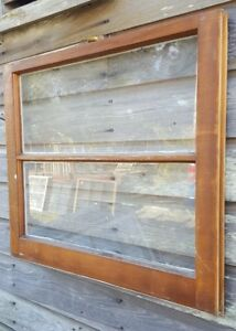 Architectural Salvage Antique Window Sash C 1900s 27x20 2 Pane Pinterest