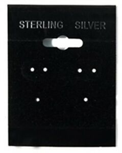 2000 Sterling Silver Black Hanging Earring Cards Display 2 h X 1 1 2 With Lip