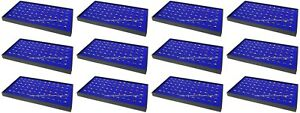 12 Blue 72 Ring Display Trays Jewelry Storage black Stackable Trays