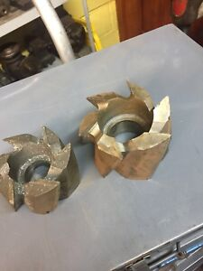 Set Of 2 Shell Mill Cutters 3 5 Dia And 4 Dia Hss Milling Machine