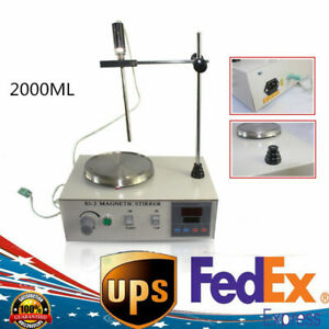 2000ml Heating Magnetic Stirrer 85 2 With Digital Hot Plate Temperatur 110v 200w
