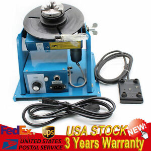 2 5 3 Jaw Rotary Welding Positioner Turntable Table Lathe Chuck 2 10r min 110v