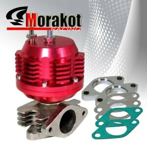 New Universal Ribbed 35mm 38mm Turbo External Manifold Adjustable Wastegate Red